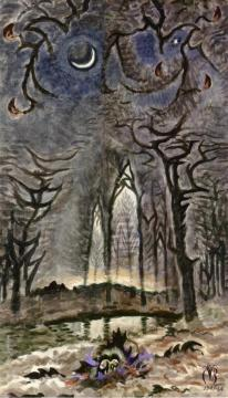 New Moon In The Woods Artwork by Charles Burchfield