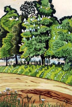Cloudy Noon Artwork by Charles Burchfield