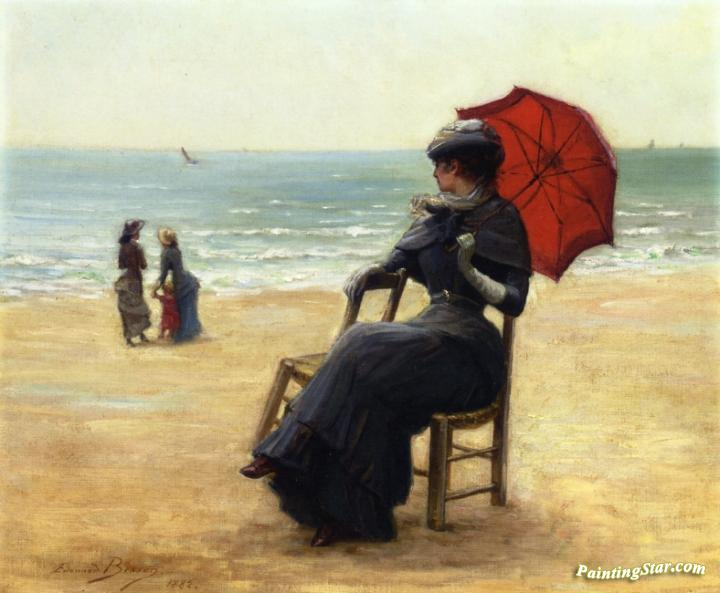 Sitting by the Sea Artwork by Edouard Bisson