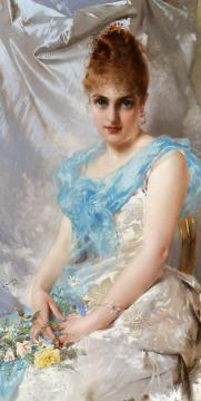 A Spring Beauty Artwork by Vittorio Matteo Corcos