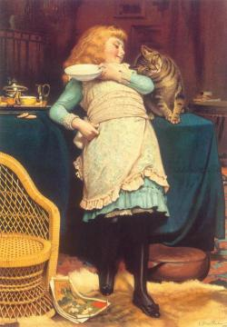 Coaxing Is Better Artwork by Charles Burton Barber