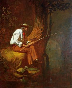 Mississippi Fisherman Artwork by George Caleb Bingham