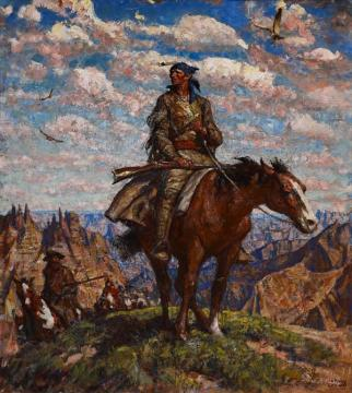 Jedediah Smith In The Badlands Artwork by Harvey T. Dunn