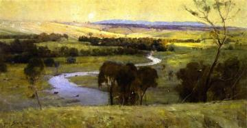 Still Glides The Stream, And Shall For Ever Glide Artwork by Sir Arthur Streeton
