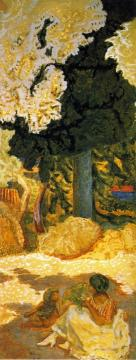 Mediterranean. Triptych (Right hand panel) Artwork by Pierre Bonnard