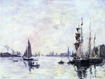 Le Havre, l'Avant-Port Artwork by Eugène-Louis Boudin