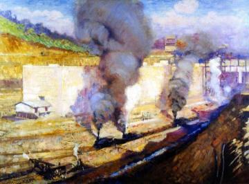 In the Lock, Miraflores Artwork by Alson Skinner Clark