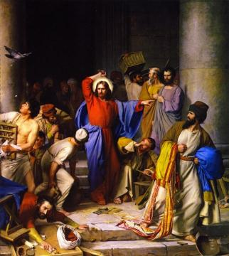 Cleansing Of The Temple Artwork by Carl Heinrich Bloch