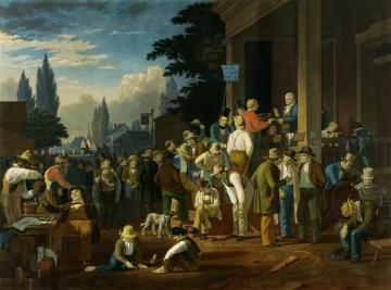The County Election (no.1) Artwork by George Caleb Bingham
