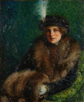 Portrait Of Lisa Orth Artwork by Paul Gustave Fischer