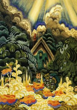 Childhood's Garden Artwork by Charles Burchfield