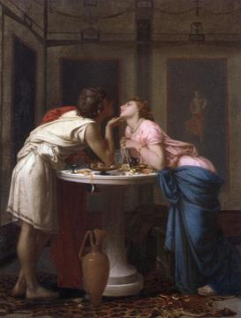 A Classical Courtship Artwork by Auguste Toulmouche