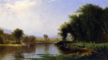 Summer On The Saco Artwork by Alfred Thompson Bricher