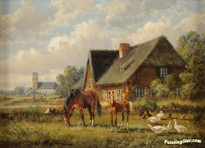 Summer In The Countryside Artwork By Hubert Kaplan Oil