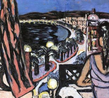 Promenade Des Anglais In Nice Artwork by Max Beckmann