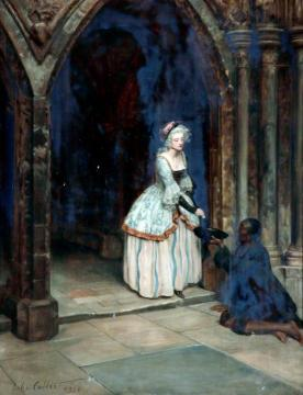 The Beggar Man Artwork by John Maler Collier