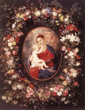 The Virgin And Child In A Garland Of Flower Artwork by Peter Paul Rubens