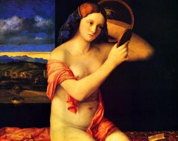 Young Woman at her Toilet Artwork by Giovanni Bellini