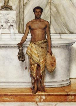 A Balneator Artwork by Sir Lawrence Alma-Tadema