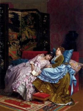 An Afternoon Idyll Artwork by Auguste Toulmouche