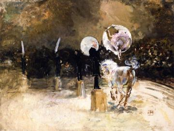 Circus Ring at Night Artwork by Robert Frederick Blum