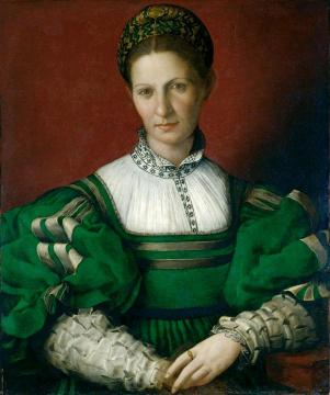 Portrait Of A Lady In Green Artwork by Agnolo Bronzino