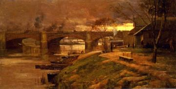 Between The Lights - Princess Bridge Artwork by Sir Arthur Streeton