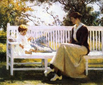 Eleanor And Benny Artwork by Frank W. Benson