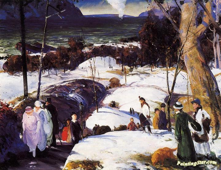 Easter Snow Artwork by George Wesley Bellows