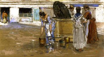 A Gossiping Place In Venice Artwork by Robert Frederick Blum