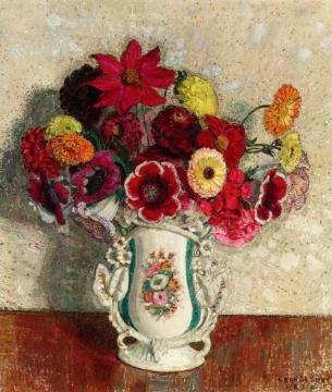 Vase Of Flowers Artwork by Leon De Smet