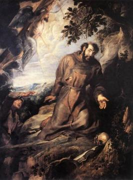 St Francis of Assisi Receiving the Stigmata Artwork by Peter Paul Rubens