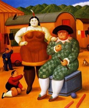 Circus People Artwork by Fernando Botero
