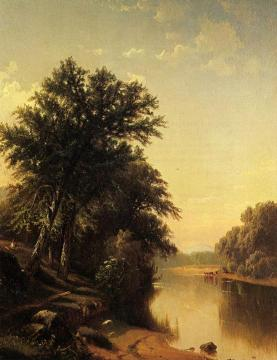 By The River Artwork by Alfred Thompson Bricher