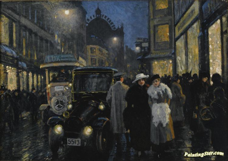 An Evening Stroll On The Boulevard Artwork by Paul Gustave Fischer