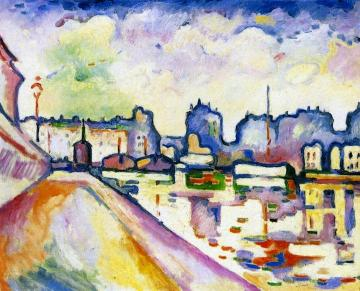 The Saint-martin Canal Artwork by Georges Braque