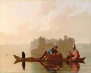 Fur Traders Descending The Missouri Artwork by George Caleb Bingham