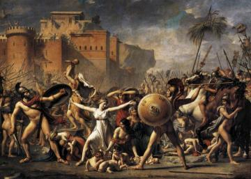 The Intervention of the Sabine Women Artwork by Jacques Louis David