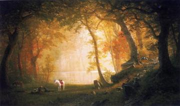A Rest On The Ride Artwork by Albert Bierstadt