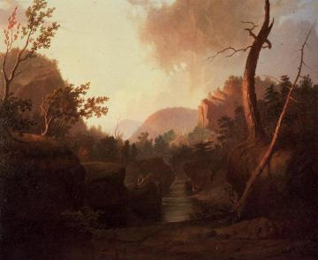 Deer in Landscape Artwork by George Caleb Bingham
