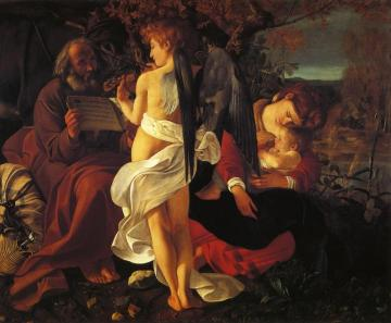 The Rest On The Flight Into Egypt Artwork by Caravaggio