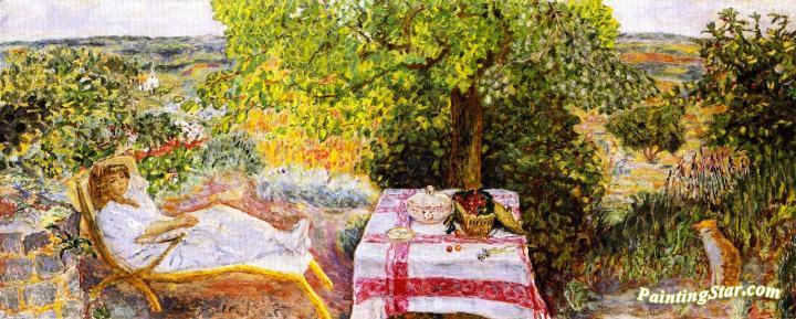 Resting In The Garden Artwork By Pierre Bonnard