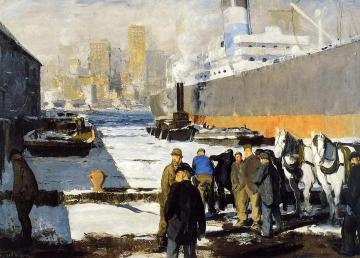 Men Of The Docks Artwork by George Wesley Bellows