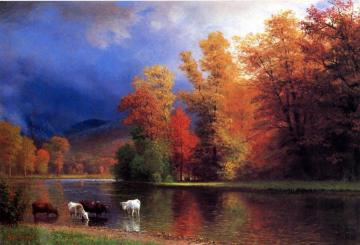 On The Saco Artwork by Albert Bierstadt