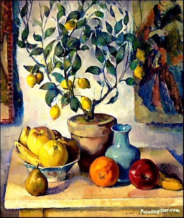 Lemon Tree Artwork Still Life With Lemon Tree