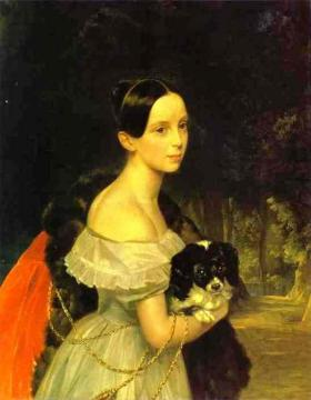 Portrait of U. M. Smirnova Artwork by Karl Pavlovich Bryullov