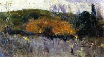 Yellow And Gray Artwork by Sir Arthur Streeton