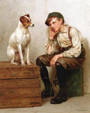 Mutual Admiration Artwork by John George Brown