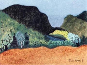 Trees And Hills Artwork by Milton Avery