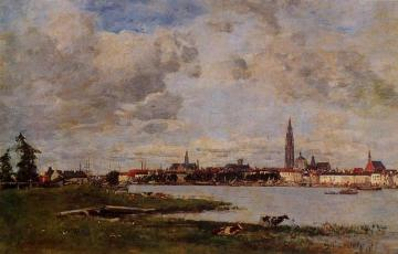Anvers, la tete de Flandres Artwork by Eugène-Louis Boudin